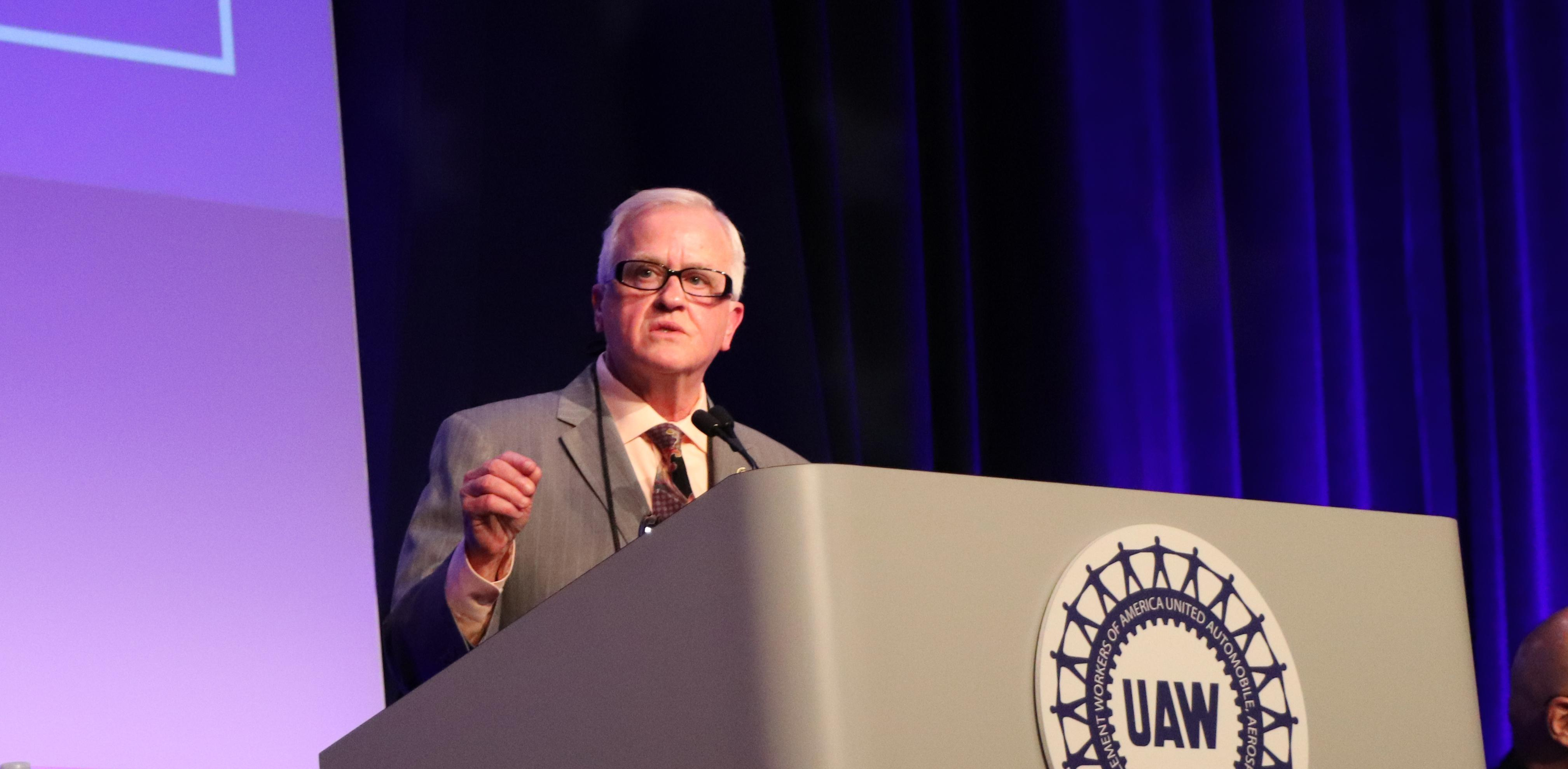 UAW Vice President Terry Dittes